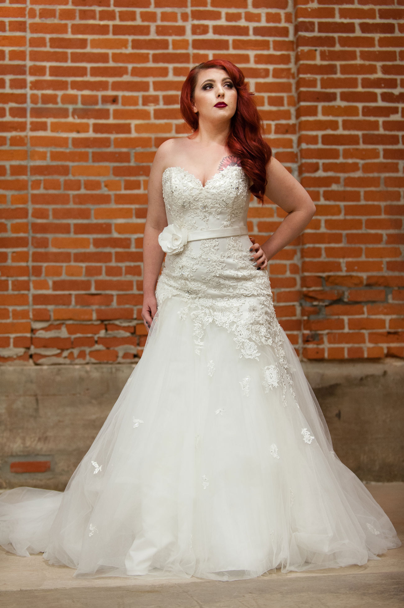 This Gown Is Jillian By Sophia Tolli. A Strapless Lace And Tulle, Fit And  Flare Gown With Exquisite Hand Placed Lace Covering The Bodice.