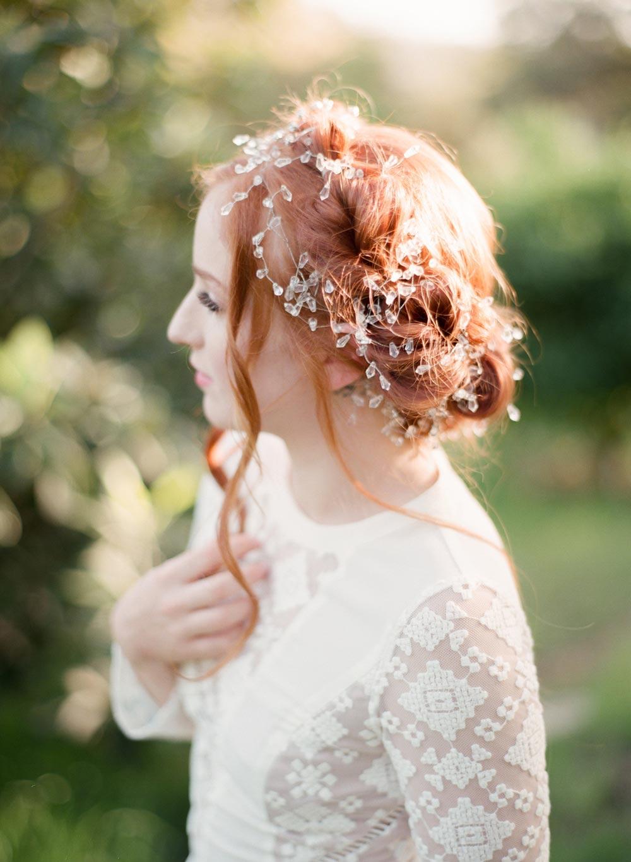 crimson rose hair