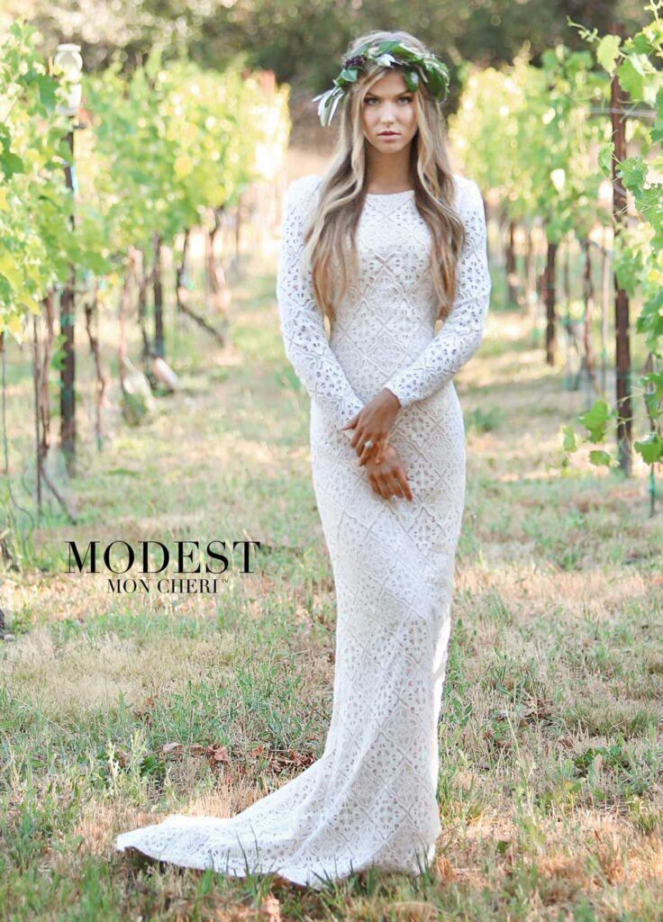 Mon Cheri Modest Wedding Dress